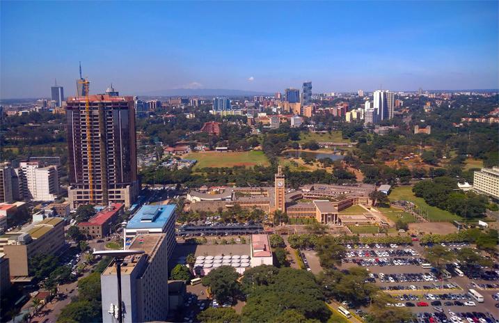 Blick auf Nairobi
