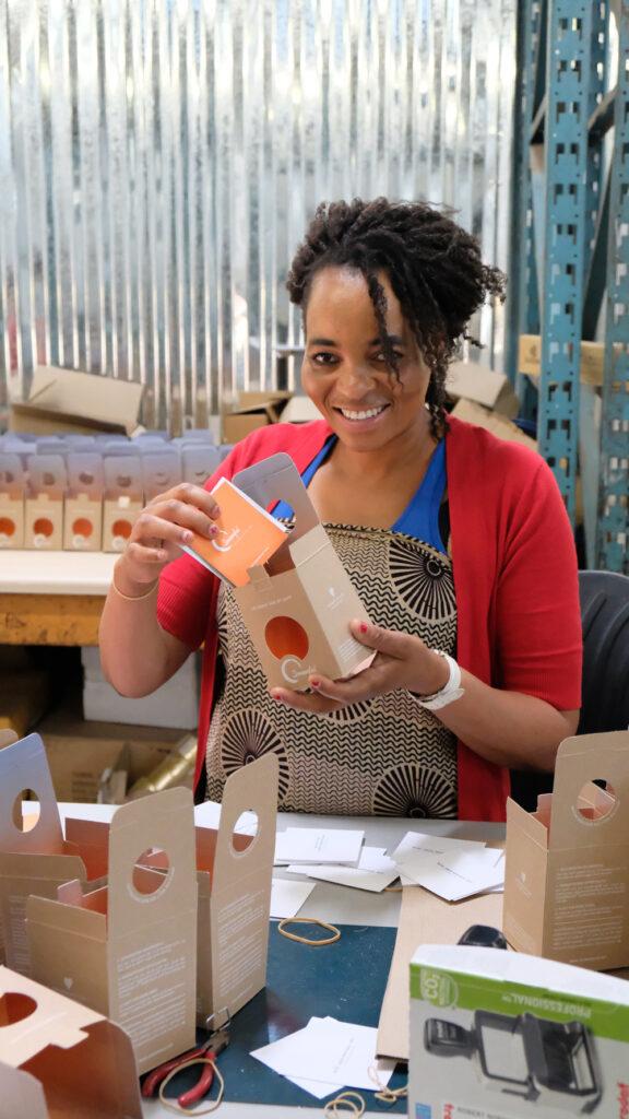 Verpackung Sonnenglas in Südafrika